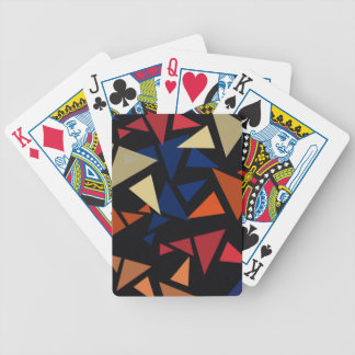 Colorful geometric pattern bicycle playing cards