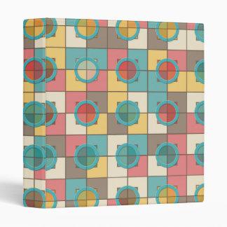 Colorful geometric pattern binder