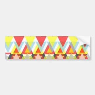 Colorful geometric Pattern Bumper Sticker