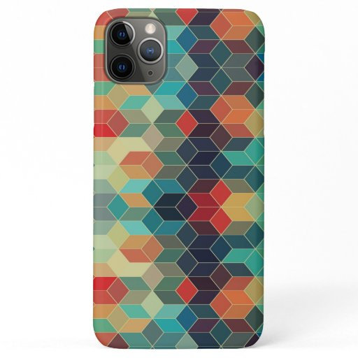 Colorful geometric pattern iPhone 11 pro max case