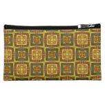 colorful geometric pattern cosmetics bags