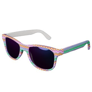 colorful, geometric pattern eyewear