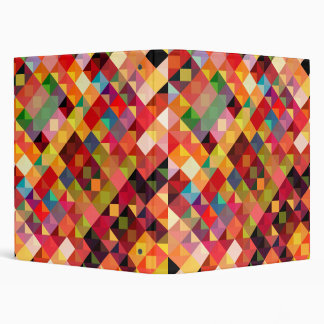 Colorful Geometric Pattern Fine Art Binder
