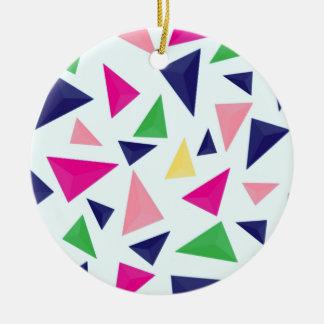 Colorful geometric pattern II Ceramic Ornament