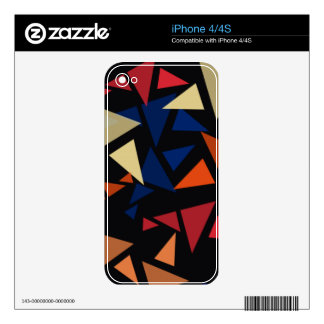 Colorful geometric pattern iPhone 4 skins