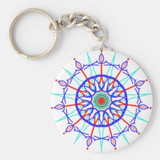 Colorful Geometric Pattern Keychain