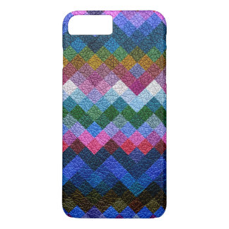 Colorful Geometric Pattern Leather Look #11 iPhone 7 Plus Case