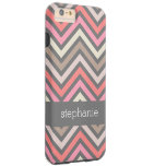 Colorful Geometric Pattern with Custom Name Tough iPhone 6 Plus Case