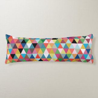 Colorful Geometric Patterned Body Pillow