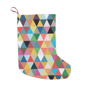 colorful geometric patterned christmas stocking - Modern Christmas Stockings