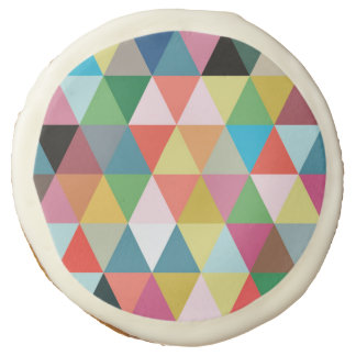 Colorful Geometric Patterned Cookies