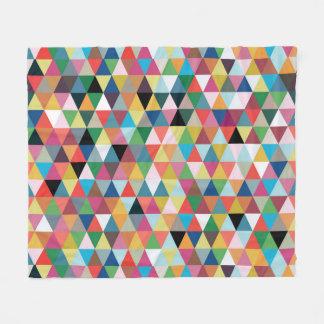 Colorful Geometric Patterned Fleece Blanket