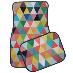 Colorful Geometric Patterned Floor Mats