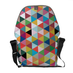 Colorful Geometric Patterned Messenger Bag