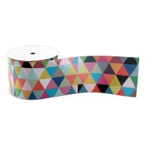Colorful Geometric Patterned Ribbon