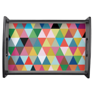 Colorful Geometric Patterned Serving Tray
