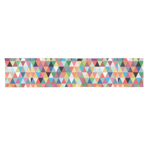 Colorful Geometric Patterned Table Runner Zazzle