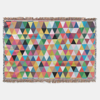 Colorful Geometric Patterned Throw Blanket
