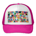 Colorful Geometric Patterned Trucker Hat