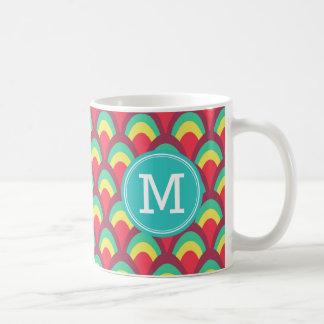 Colorful Geometric Personalize Name Monogram Coffee Mug