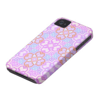 Colorful Geometric ~ Pink iPhone 4 Case