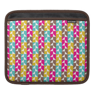 Colorful Geometric Pink, Yellow, Aqua Pattern Sleeve For iPads