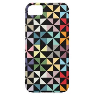 Colorful Geometric Pinwheel Black iPhone SE/5/5s Case