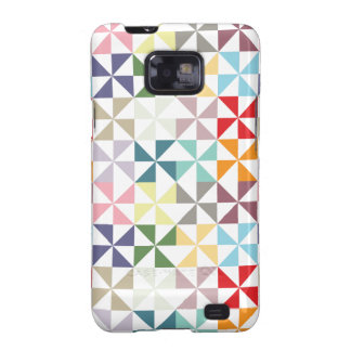 Colorful Geometric Pinwheel Galaxy SII Case