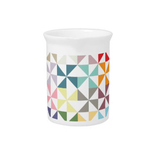 Colorful Geometric Pinwheel Drink Pitchers