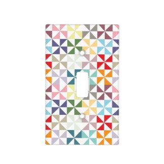 Colorful Geometric Pinwheel Light Switch Cover