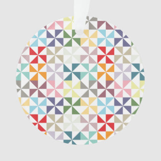 Colorful Geometric Pinwheel Ornament