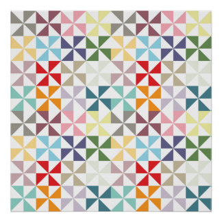 Colorful Geometric Pinwheel Poster