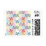 Colorful Geometric Pinwheel Stamp