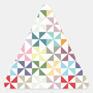 Colorful Geometric Pinwheel Triangle Sticker