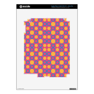 Colorful Geometric Polka Print Decals For iPad 3