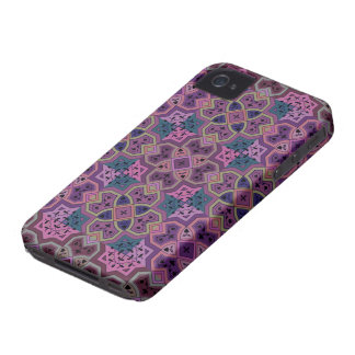 Colorful Geometric ~ Purple iPhone 4 Case-Mate Case