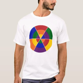 Colorful Geometric Rainbow LGBT Pride T-Shirt