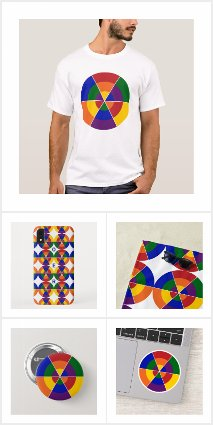 Colorful Geometric Rainbow Pattern