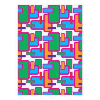 Colorful Geometric Shapes Circuit Board Pattern Card