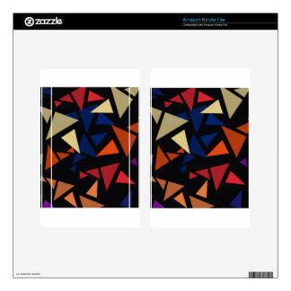 Colorful geometric Shapes Decals For Kindle Fire