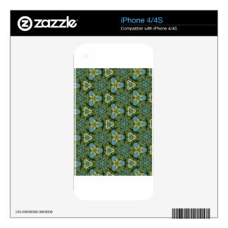 Colorful Geometric Shapes Gifts Decals For iPhone 4