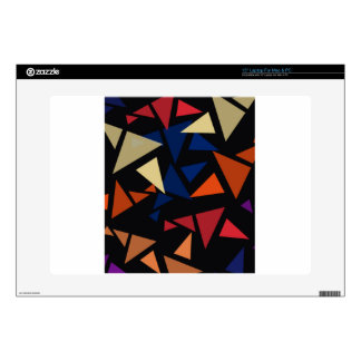 Colorful geometric Shapes Laptop Decals