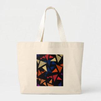 Colorful geometric Shapes Large Tote Bag