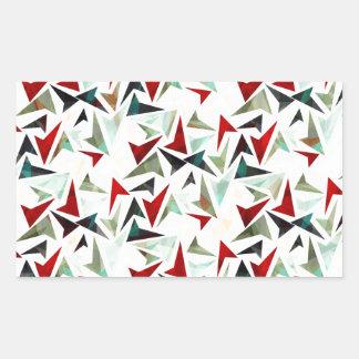 Colorful Geometric Shapes Pattern Rectangular Sticker