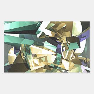 Colorful Geometric Shapes Rectangular Sticker