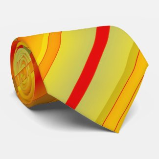 Colorful Geometric Striped Pattern Tie