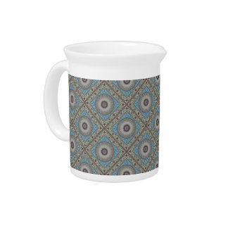Colorful Geometric Tapestry Pitcher
