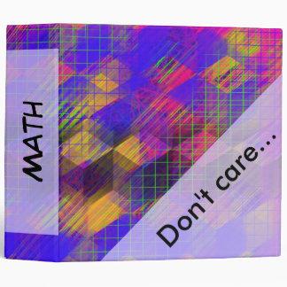 Colorful Geometric Template Text School Binder