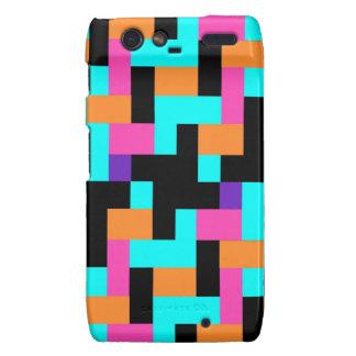 Colorful Geometric Tetris Squares - Modern Pattern Droid RAZR Case
