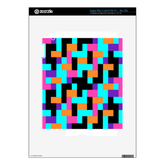 Colorful Geometric Tetris Squares - Modern Pattern iPad 3 Decal